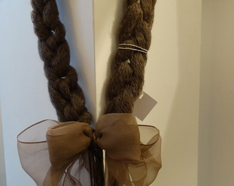 Necklace made from wool mohair and silk chiffon