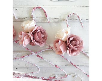 Floral Fabric Wrapped Wedding Hangers