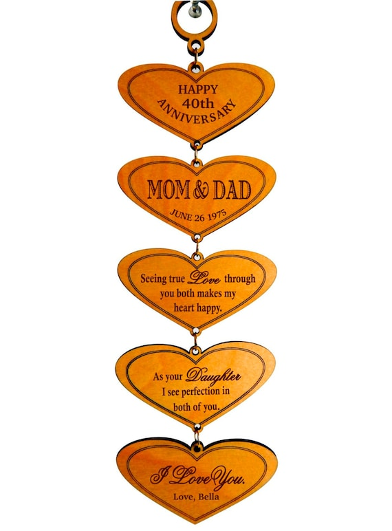 40th Anniversary Gift Gifts for Anniversary Personalized