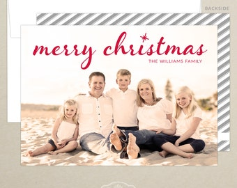 Christmas Family Photo Card - Holiday Card - Christmas Card - Personalized - Photo Christmas Card - Digital or Printed