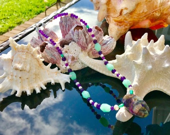 Amazonite & Amethyst Necklace