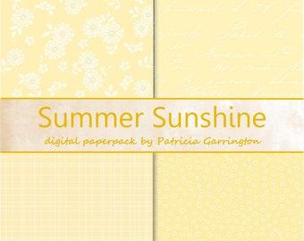 Summer Sunshine Digital Paperpack Collection Printable INSTANT DOWNLOAD