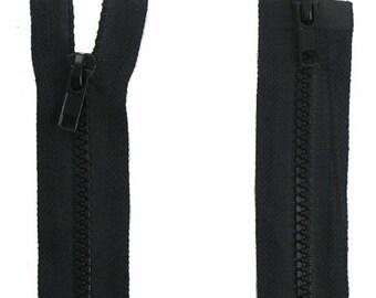separable zipper, Black mesh 55cm