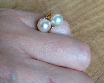 Freshwater Pearl Yellow Gold Ring