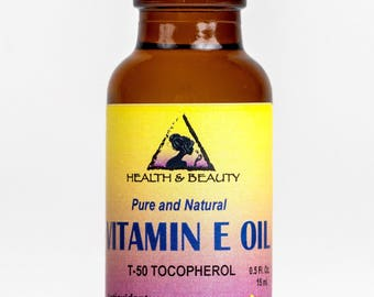 0.5 oz TOCOPHEROL T-50 VITAMIN E OIL Anti Aging Natural Premium Pure in Glass Bottle