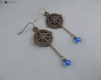 Compass Earrings - Bronze