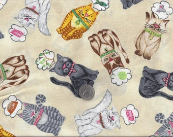 My Cat Day Dreams Feline Fantasy I Spy Cat Fabric By the Fat Quarter  BTFQ