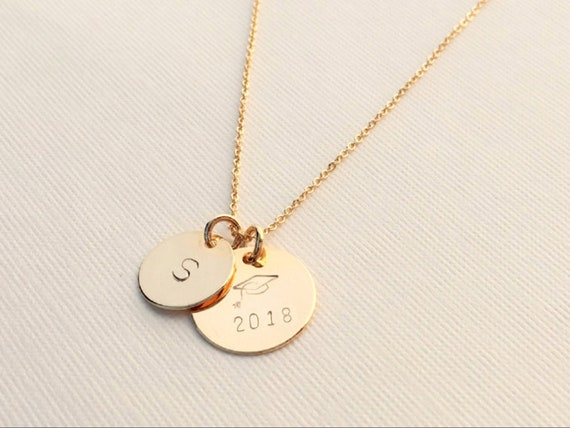 loveitpersonalized w sterling shop handmade sale school product necklaces personalized hand and graduation metalsmithed gift view silver stamped ext jewelry initials colors high necklace