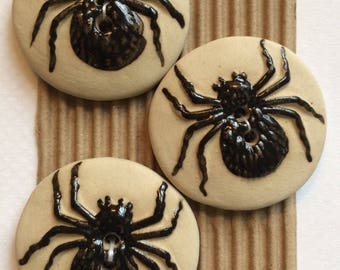 Halloween Buttons, Spider Buttons, Ghost Button, Witch Button, Bat Button, Black Cat Button, Jack O'Lantern Button, Witch Hat Button,
