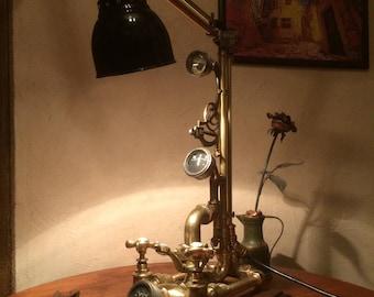 Steampunk lamp. Lamp Baron von Roterbromera