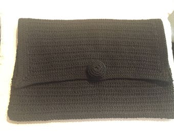 1940's Corde Envelope Clutch Purse with Corde Hand Made Button
