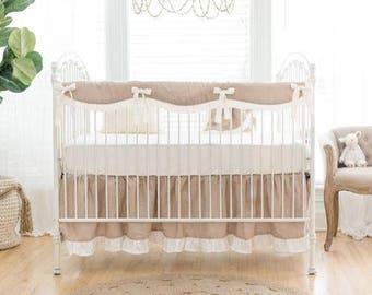 Washed Linen in Natural Baby Bedding Set
