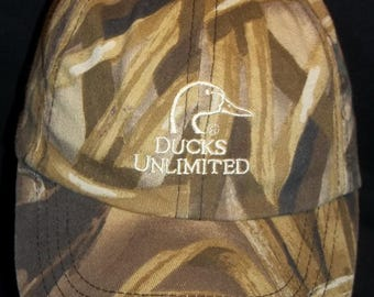 Vintage Ducks Unlimited Adjustable Hat Wetlands Camo Baseball Caps Sports Duck Head Hunting Hats YOUTH Hat T13 M7073