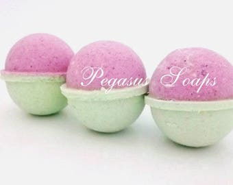3 Cucumber Melon Bath Bomb Fizzy Relaxing Bath, Fizzy Bath, Handmade Bath Bomb, Mother's Day, Vegan Friendly