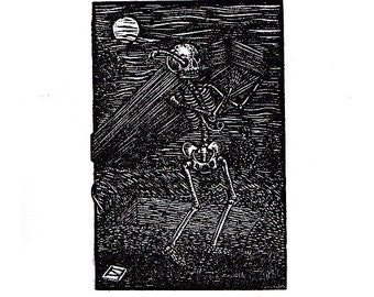 Skeleton with coffin