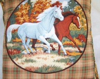 Beautiful Horses Running In the Fall