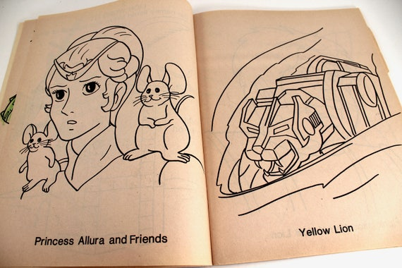 Vintage 80s Voltron coloring book Defender of the Universe