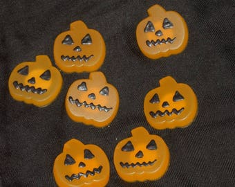 Pumpkin shaped resin magnets