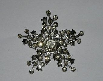 Vintage Rhinestone Pin or Brooch - Prong Set