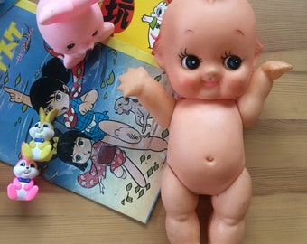 Cute vintage Big Kewpie / Angel Doll /  Baby Doll / made in Japan