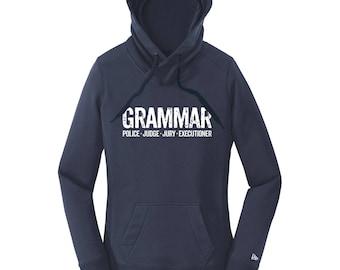Grammar Police Gifts Grammar Shirt Grammar Tshirt Hoodies for Women Grammar Executioner Hoodie Comfy Sweatshirt Grammar English Teacher Gift