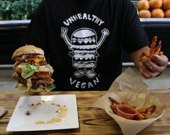 Unhealthy Vegan Apparel/The UnhealthyVegan Burger Shirt