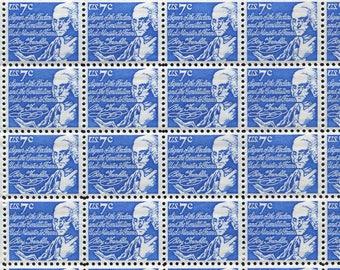 Ben Franklin Blue Stamps  /10 Unused Vintage Stamps Issued In 1970's