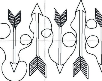 Arrow quilting design for your embroidery machine, in sizes 5x7, 6x10, 8x12, and 9x14.Don't pay for high quilting prices just do it yourself