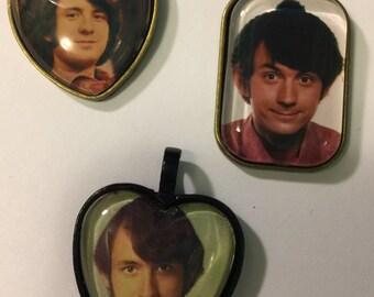 Three Mike Nesmith Photo Pendants