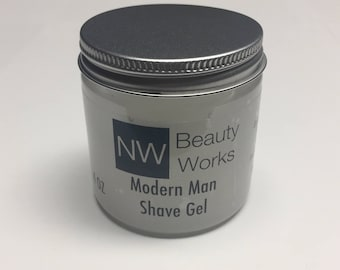 No Foam Shave Gel for Men | Modern Man | A citrusy & woody masculine fragrance with hints of lime, rose, and a woody base. | 4 OZ