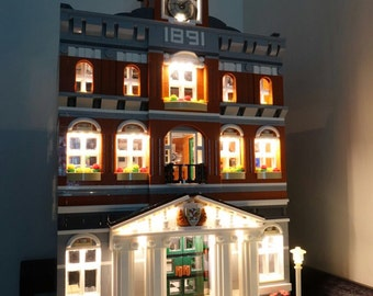 Light up kits for LEGO 10224 - Town Hall Modular  - (Model not included)