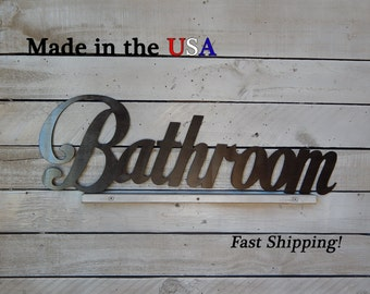 Bathroom, Bathroom Decor, Restaurant Decor, Indoor/Outdoor Wall Art, House Decor, Metal Sign, Home Signs, Store Signs, Hotel Sign, W1044