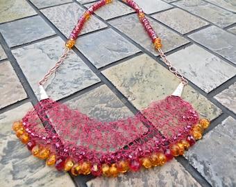 Lupita Wire Crochet Statement Necklace