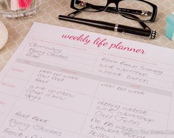 Weekly Life Planner - 2018 Printable