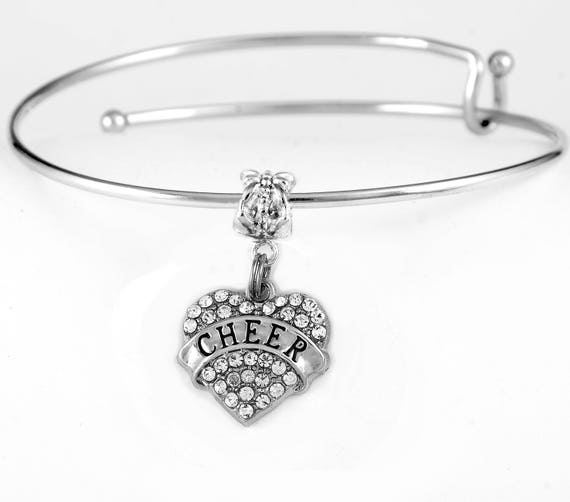 Cheer Charm Bracelets: Cheer Bracelet Cheer Jewelry Cheerleader Jewelry Cheer