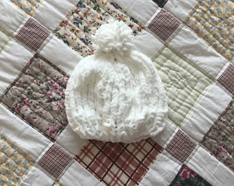 Handmade Knitted Chunky Baby Hat