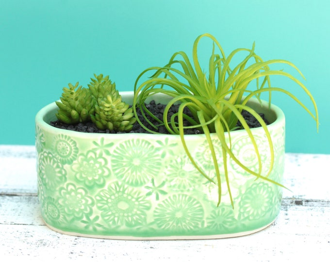 green plant container