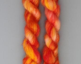 Handdyed kidmohair silk - Sunrise