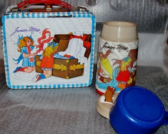 Vintage Junior Miss Lunchbox and Thermos 1970s