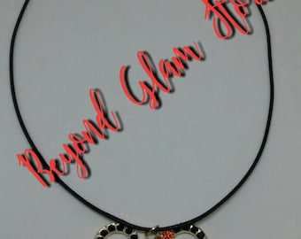 Elijah's Minnie Harvest Time Inspired Bejeweled Necklace