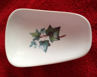 """Ceramic Spoon Rest with Ivy  5"""" Long And 3 1/2  Inches at Top of Spoon"""