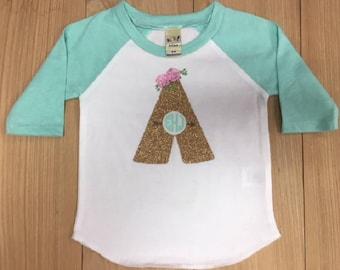 Monogram Infant Baseball T-Shirt