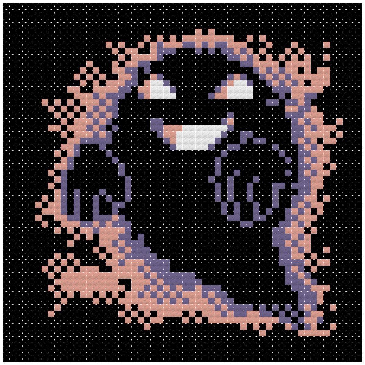 Cross Stitch Pattern Pokemon Ghost Sprite # Muebles Pokemon