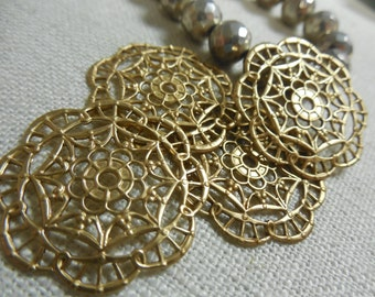 Round Brass Filigree