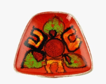 Vintage Poole Pottery Delphis Hand Decorated Pin Dish - Andree Fontana