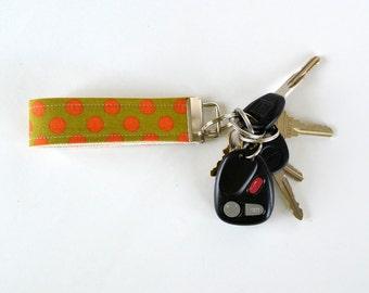 Schlüsselanhänger-Schlüsselanhänger Orange Polka Dots