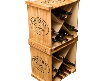 1088 Personalized Wine Crate Rack