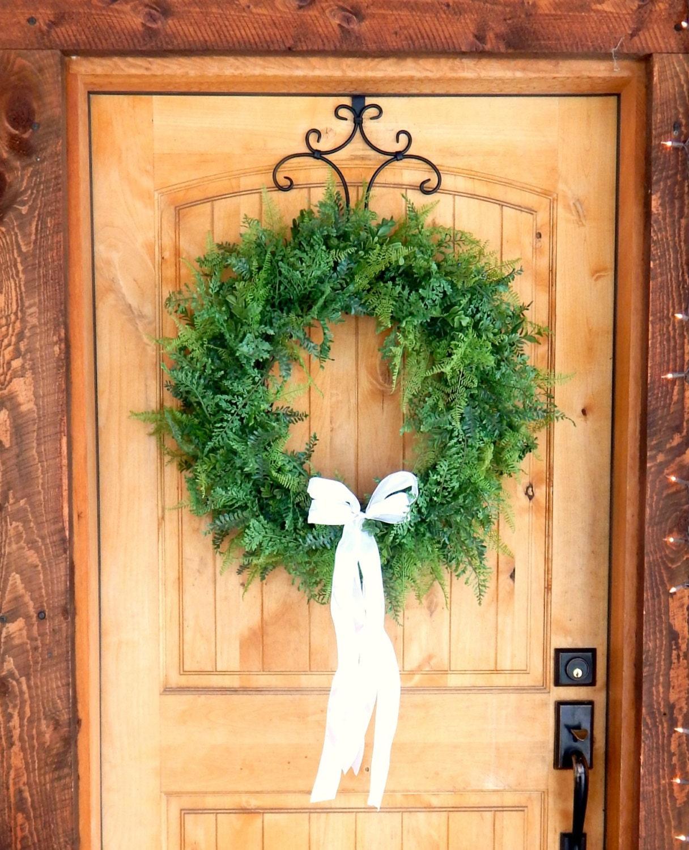 Winter Wreath-FERN Wreath-Wedding Wreath-Fern Door Wreath-Holiday ...