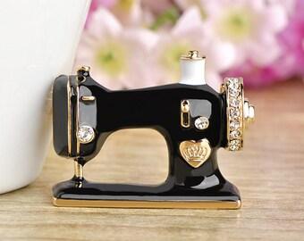 Fashion Enamel Badge, Shirt Pin For Women Girls Brooches, Sewing Machine Brooch, Brooch Pin Uk