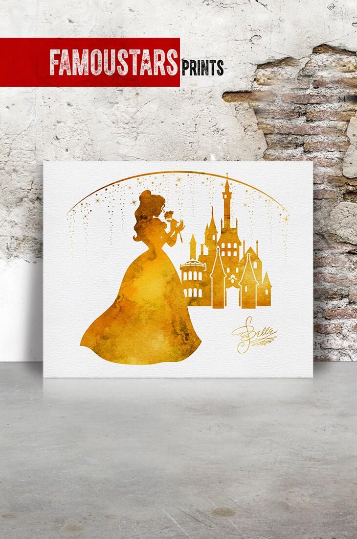 Disney print Belle poster Disney princess Belle castle